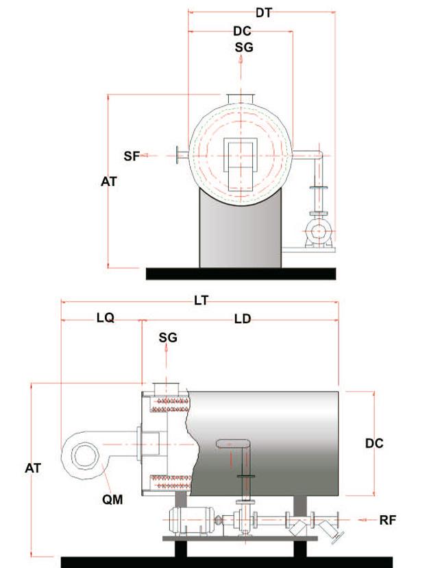 Aquecedor de Fluído Térmico Horizontal a Óleo e Gás AFT-H