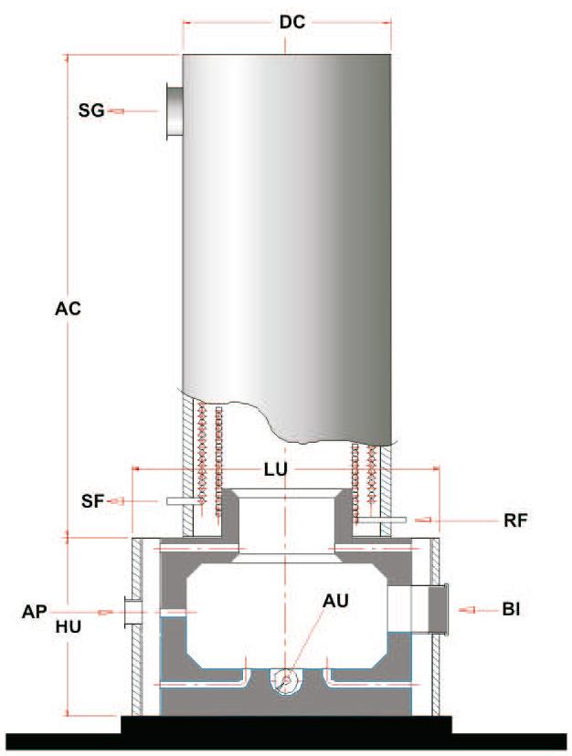 Aquecedor de Fluído Térmico Vertical a Biomassa AFT-VB